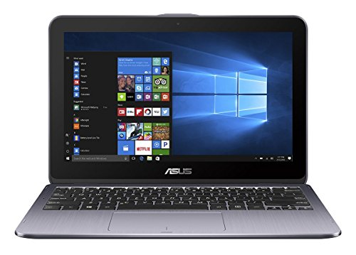 "ASUS VivoBook Flip 12 TP203NAH-BP046T - Ordenador portátil convertible 2 en 1 de 11.6"" HD (Intel Celeron N3350, 4 GB RAM, 500 GB HDD, Intel HD Graphics 500, Windows 10 Home) gris estrella"