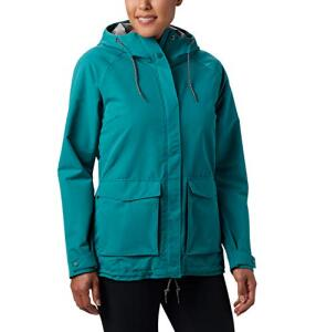 Columbia South Canyon Chaqueta Impermeable, Mujer. Talla S, Verde