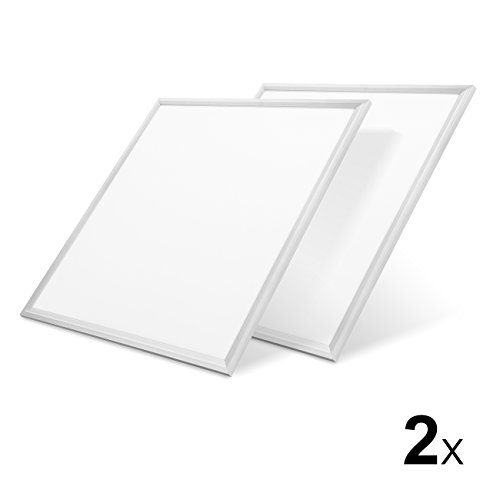 LVWIT 2x Panel LED 60x60cm - 48W equivalente a 400W, 4400 lúmenes, Color blanco frío 6000K - Pack de 2 Unidades.