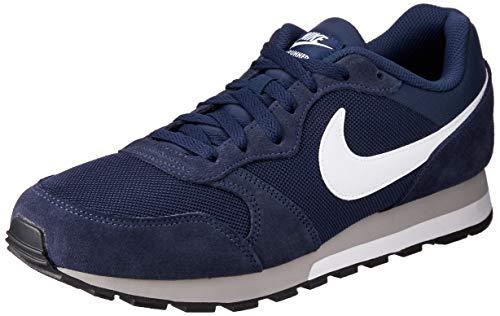 Nike MD Runner 2, Zapatillas de Running Hombre, Azul (Midnight Navy/White-Wolf Grey), 47 1/2